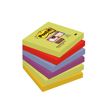 Post-it® Haftnotiz Super Sticky Notes Marrakesh Collection  6 Block/Pack.