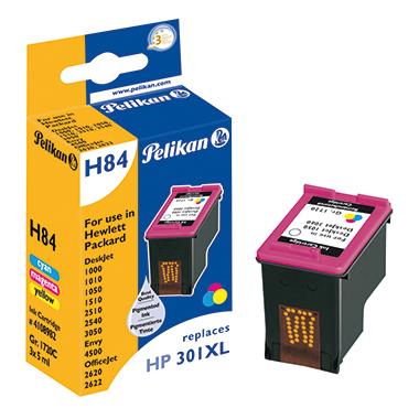 Pelikan Tintenpatrone HP 301XL  cyan/magenta/gelb