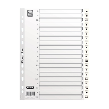 ELBA A-Z Register 22,5 x 29,7 cm (B x H)