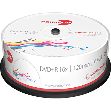 PRIMEON DVD+R Spindel bedruckbar