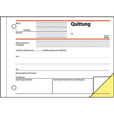 Sigel Quittungsblock
