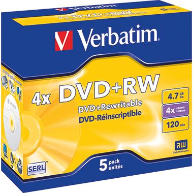 Verbatim DVD+RW  5 St./Pack.