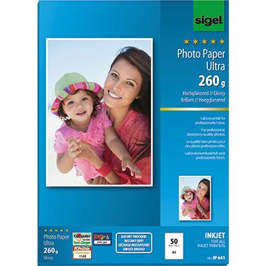 Sigel Fotopapier Ultra  50 Bl./Pack.