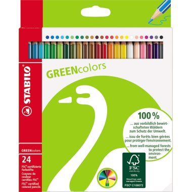 STABILO® Farbstift GREENcolors  24 St./Pack.