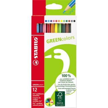 STABILO® Farbstift GREENcolors  12 St./Pack.