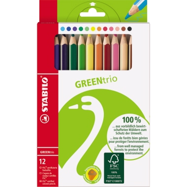 STABILO® Farbstift GREENtrio