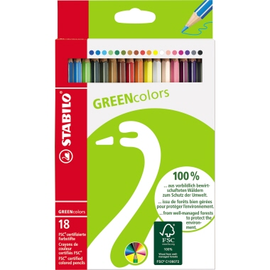 STABILO® Farbstift GREENcolors  18 St./Pack.