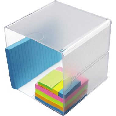 Deflecto® Organisationsbox Classic CUBE