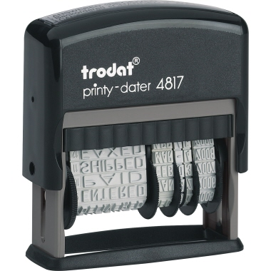 trodat® Wortbandstempel Printy Dater 4817  8 x 7 x 2,5 cm (B x H x T)