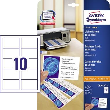 Avery Zweckform Visitenkarte Classic
