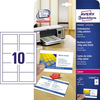 Avery Zweckform Visitenkarte Premium  250 St./Pack.