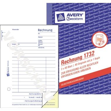 Avery Zweckform Rechnung DIN A6