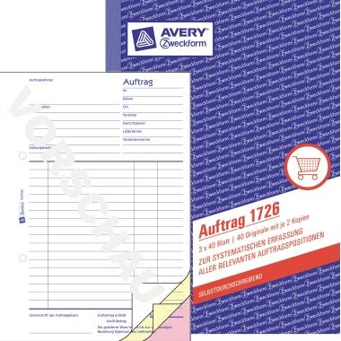 Avery Zweckform Auftragsformular