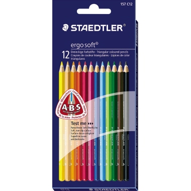 STAEDTLER® Farbstift ergo soft® 157  Etui 12 St./Pack.
