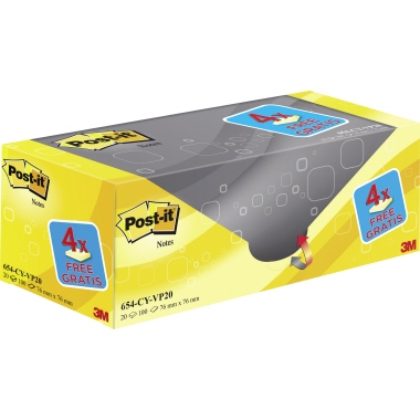 Post-it® Haftnotiz Notes   20 Block/Pack.