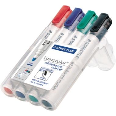 STAEDTLER® Whiteboardmarker Lumocolor® 351  Rundspitze 4 St./Pack.