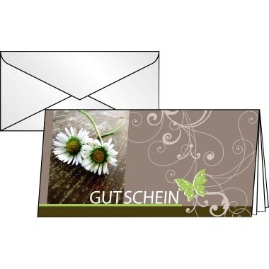 Sigel Faltkarte Gutschein  Favourite