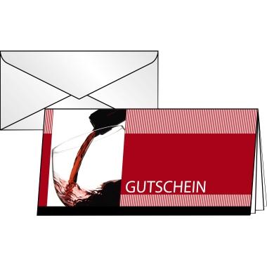 Sigel Faltkarte Gutschein  Vino Rosso