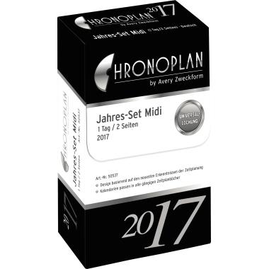 Chronoplan Einlage Kalender  Jahresset inkl. Tagesplan