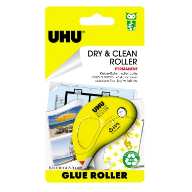 UHU® Kleberoller Dry & Clean permanent