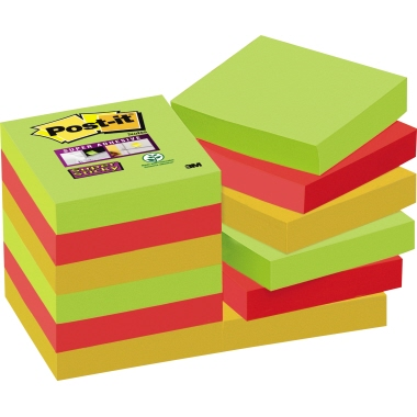 Post-it® Haftnotiz Super Sticky Notes Marrakesh Collection  12 Block/Pack.