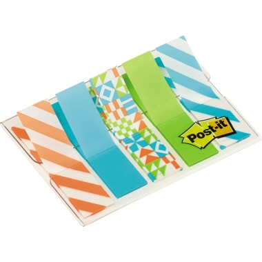 Post-it® Haftstreifen Index Mini Geo Collection
