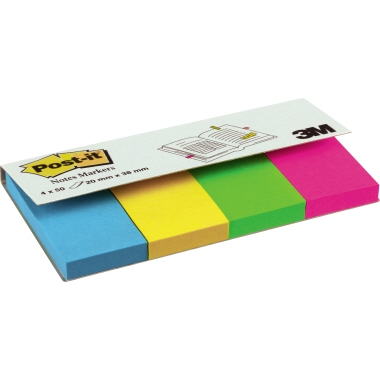Post-it® Haftstreifen Page Marker  20 x 38 mm (B x H)