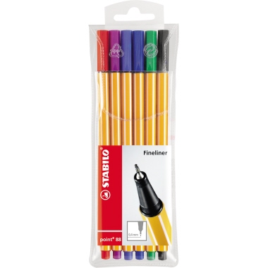 STABILO® Fineliner point 88®  6 St./Pack.