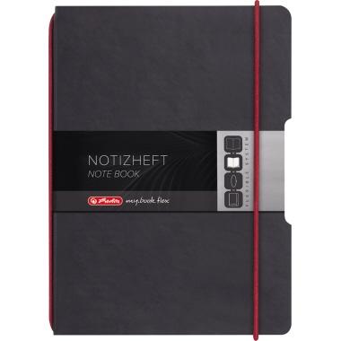 Herlitz Notizbuch my.book flex  DIN A6 Lederoptik schwarz