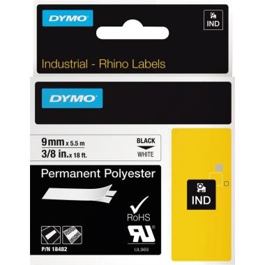 DYMO® Schriftbandkassette IND Polyester  9 mm x 5,5 m (B x L)