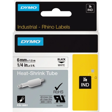 DYMO® Schrumpfschlauch  6 mm x 1,5 m (B x L)