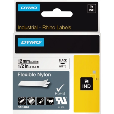 DYMO® Schriftbandkassette IND Nylon  12 mm x 3,5 m (B x L)