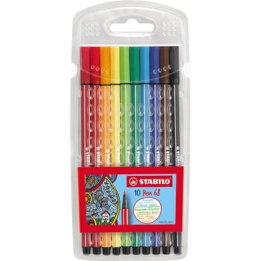 STABILO® Fasermaler Pen 68  10 St./Pack.