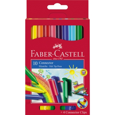 Faber-Castell Fasermaler CONNECTOR 10 St./Pack.