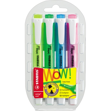 STABILO® Textmarker swing® cool  4 St./Pack.