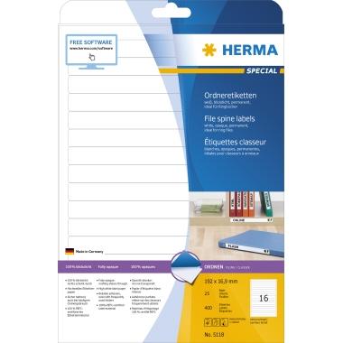 HERMA Ordnerrückenetikett SPECIAL  16,9 x 192 mm (B x H)