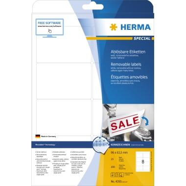 HERMA Universaletikett SPECIAL  96 x 63,5 mm (B x H)