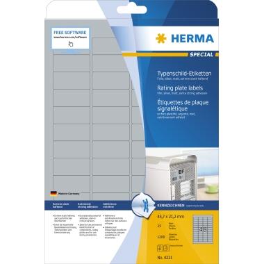 HERMA Typenschildetikett SPECIAL 45,7 x 21,2 mm (B x H)