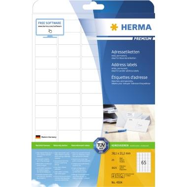 HERMA Adressetikett PREMIUM  38,1 x 21,1 mm (B x H)