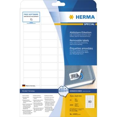 HERMA Haftetikett  35,6 x 16,9 mm (B x H)