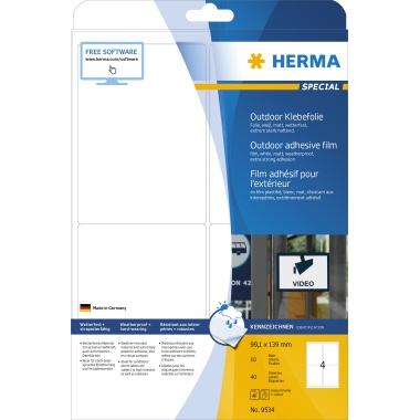 HERMA Folienetikett  99,1 x 139 mm (B x H) 40 Etik./Pack.