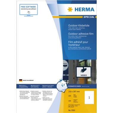 HERMA Folienetikett  210 x 297 mm (B x H) 50 Etik./Pack.
