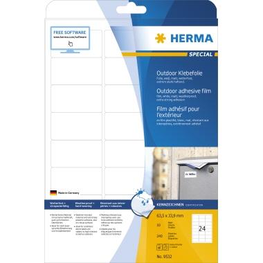 HERMA Folienetikett  63,5 x 33,9 mm (B x H) 240 Etik./Pack.