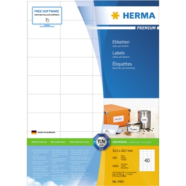 HERMA Universaletikett PREMIUM  4.000 Etik./Pack.