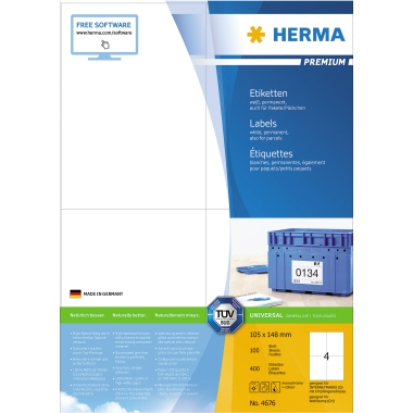 HERMA Universaletikett PREMIUM  400 Etik./Pack.