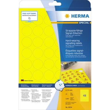 HERMA Folienetikett  30 mm