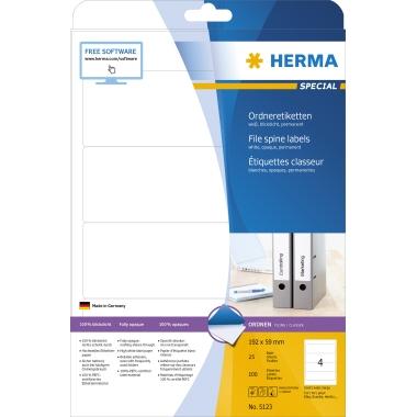 HERMA Ordnerrückenetikett SPECIAL  59 x 192 mm (B x H)