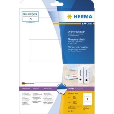 HERMA Ordnerrückenetikett SPECIAL  61 x 157 mm (B x H)