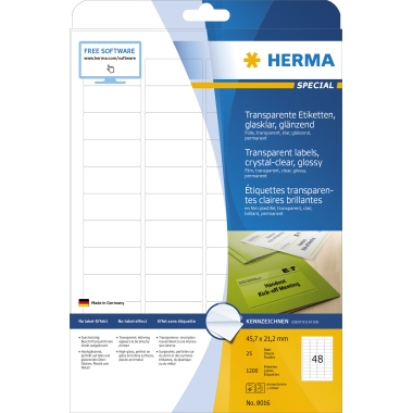 HERMA Folienetikett SPECIAL  45,7 x 21,2 mm (B x H)