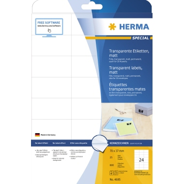 HERMA Folienetikett SPECIAL  600 Etik./Pack.